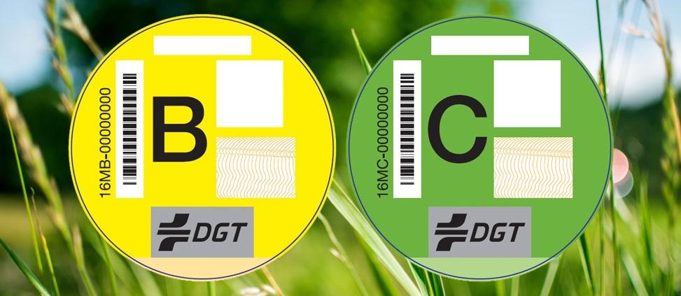 Distintivos ambientales nuevos DGT