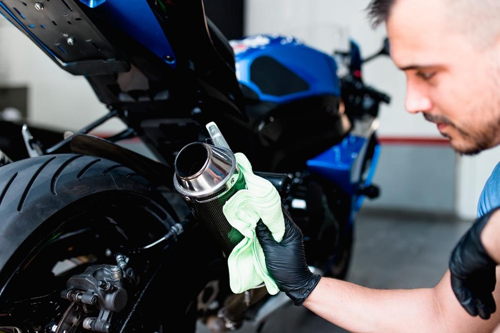 Limpieza de motos sin agua