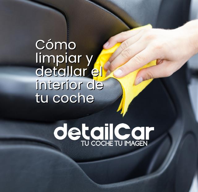 Limpieza interior de coche